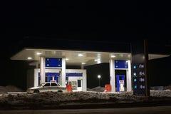 Estación de gasolina foto de archivo libre de regalías