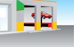 Estación de gasolina del coche stock de ilustración