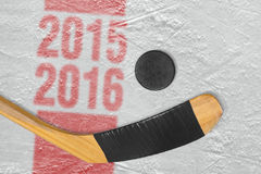 estación 2015-2016 de hockey Imágenes de archivo libres de regalías