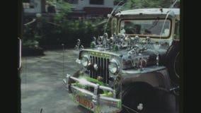 Estación de Jeepney almacen de metraje de vídeo