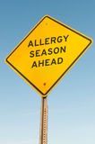 Estación de la alergia a continuación Fotografía de archivo libre de regalías