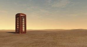 Estación de la ayuda en el desierto libre illustration