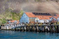 Estación de la ballena de Stromness donde Shackleton fue ahorrado Fotos de archivo libres de regalías