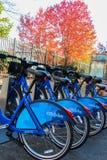 Estación de la bici de Citi en New Jersey fotografía de archivo