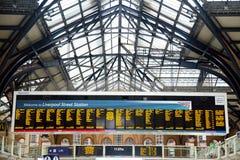 Estación de la calle de Liverpool Foto de archivo libre de regalías
