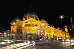 Estación de la calle del Flinders Foto de archivo