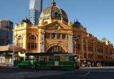 Estación de la calle del Flinders Imágenes de archivo libres de regalías