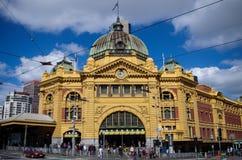 Estación de la calle del Flinders en Melbourne Imagen de archivo libre de regalías