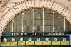 Estación de la calle del Flinders en Melbourne, Victoria, Australia Imágenes de archivo libres de regalías
