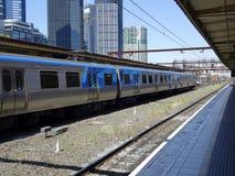 Estación de la calle del Flinders, Melbourne. Fotografía de archivo