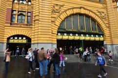 Estación de la calle del Flinders - Melbourne Imagen de archivo