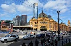 Estación de la calle del Flinders - Melbourne Fotos de archivo