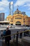 Estación de la calle del Flinders - Melbourne Imagenes de archivo