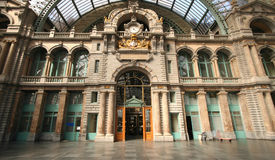 Estación de la central de Amberes Fotos de archivo libres de regalías