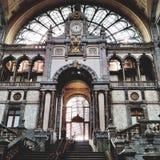 Estación de la central de Amberes Imágenes de archivo libres de regalías