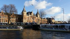 Estación de la central de Amsterdam Fotografía de archivo