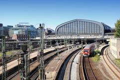 Estación de la central de Hamburgo Fotos de archivo libres de regalías
