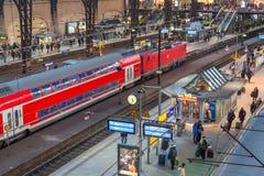 Estación de la central de Hamburgo Imagen de archivo libre de regalías