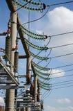 Estación de la corriente eléctrica Fotografía de archivo