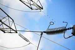 Estación de la corriente eléctrica Foto de archivo libre de regalías