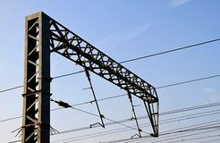 Estación de la corriente eléctrica Foto de archivo
