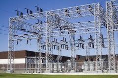 Estación de la corriente eléctrica Fotos de archivo