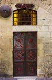 Estación 7 de la cruz adentro vía Dolorosa, ciudad vieja de Jerusalén, Isr Fotografía de archivo
