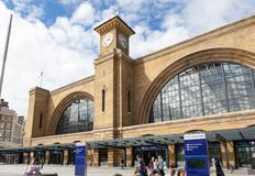 Estación de la cruz del ` s del rey, Londres Fotografía de archivo