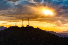 Estación de la difusión y de la telecomunicación Imagen de archivo libre de regalías