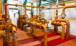 Estación de la distribución del gas natural fotografía de archivo libre de regalías