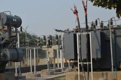 Estación de la electricidad Foto de archivo