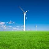 Estación de la energía eólica Fotografía de archivo
