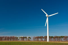 Estación de la energía eólica Fotografía de archivo libre de regalías