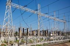 Estación de la energía eléctrica fotografía de archivo