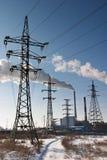 Estación de la energía eléctrica imágenes de archivo libres de regalías