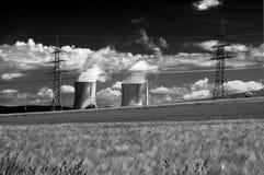 Estación de la energía eléctrica Fotos de archivo libres de regalías
