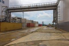 Estación de la energía eléctrica, afuera Imagenes de archivo