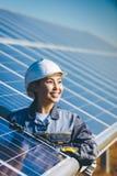 Estación de la energía solar fotografía de archivo libre de regalías