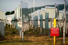 Estación de la energía solar foto de archivo