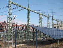 Estación de la energía solar Fotos de archivo libres de regalías