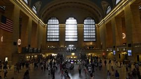 Estación de la estación de Gran en Nueva York metrajes