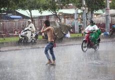 Estación de la lluvia en Asia sudoriental Imagenes de archivo