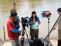 Estación de la monzón en Ayuttaya, Tailandia 2011 Foto de archivo libre de regalías