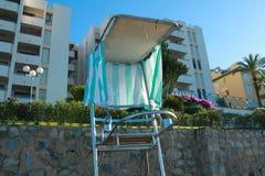 Estación de la silla del guardia de vida Fotos de archivo