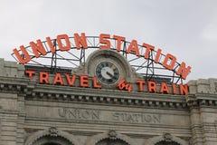 Estación de la unión en Denver céntrica Fotografía de archivo libre de regalías