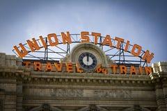 Estación de la unión en Denver Colorado imágenes de archivo libres de regalías