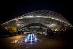 Estación de Liège - de Guillemins Fotografía de archivo libre de regalías