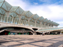 Estación de Lisboa Oriente (Lisboa Gare hace Oriente) Foto de archivo