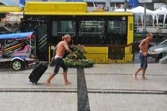 Estación de lluvias en Bangkok Imagen de archivo libre de regalías