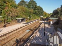 Estación de madera del extremo en Tanworth en Arden Fotografía de archivo libre de regalías